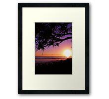 Burleigh Heads Purple Sunrise, Gold Coast, Australia - ANZAC Day 2013 Framed Print