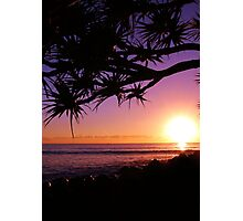 Burleigh Heads Purple Sunrise, Gold Coast, Australia - ANZAC Day 2013 Photographic Print
