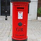A Red Post Box In Gibraltar by Keith Larby