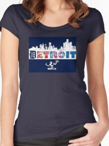 Detroit Sports Women's Fitted Scoop T-Shirt