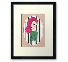 Sequin Drip Framed Print
