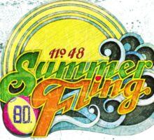 SUMMER FLING. Sticker