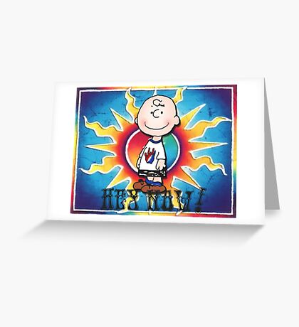 Hey Now!!! Charlie Brown Greeting Card