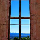 Mountains Through the Window by Michael John