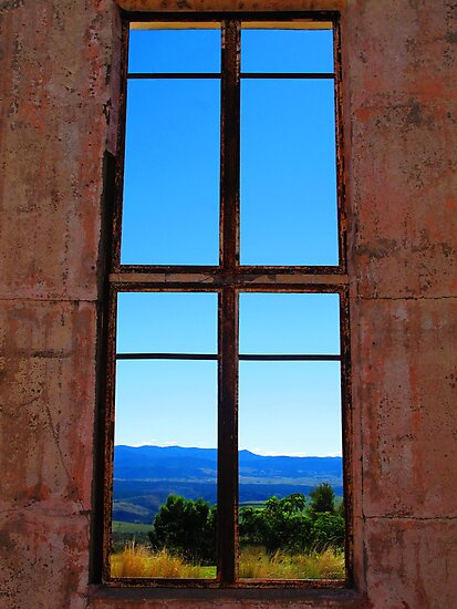 Mountains Through the Window by Michael John