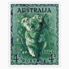 Australian Koala Bear Postage Stamp by TravelShop