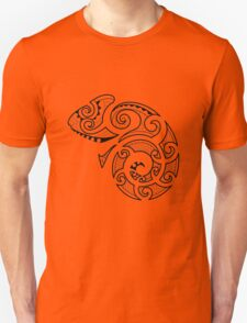 Maori Camouflaged Chameleon B/W  T-Shirt