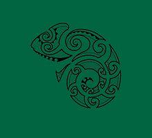 Maori Camouflaged Chameleon B/W  Unisex T-Shirt