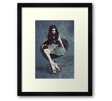 Ask Alice - Conceptual Portrait Art  Framed Print