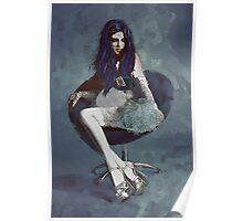 Ask Alice - Conceptual Portrait Art  Poster