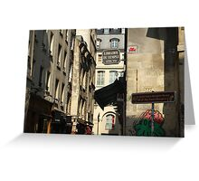 Rue des Rosiers Greeting Card
