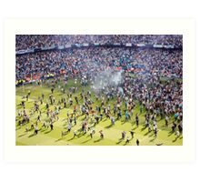 Pitch invasion Art Print