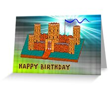 Happy Birthday - Castle Greeting Card