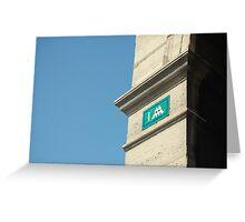 Parisian Invader Greeting Card