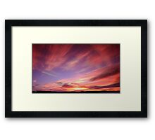 An HDR shot of a sunset at Eyemouth Framed Print