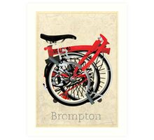 Brompton Bicycle Folded Art Print