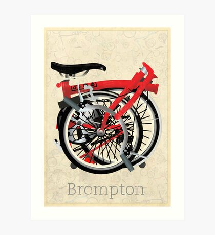 Brompton Bicycle Folded Art Print