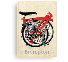 Brompton Bicycle Folded Canvas Print