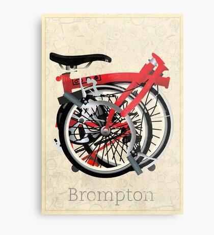 Brompton Bicycle Folded Metal Print
