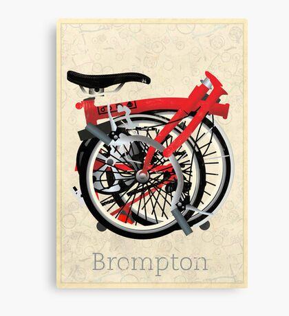 Brompton Bicycle Folded Canvas Print