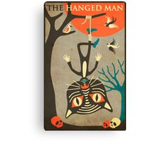 Tarot Card Cat: The Hanged Man Canvas Print