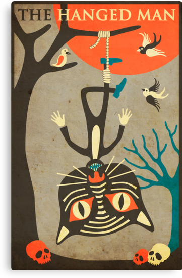 Tarot Card Cat: The Hanged Man by JazzberryBlue