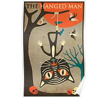 Tarot Card Cat: The Hanged Man Poster
