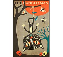 Tarot Card Cat: The Hanged Man Photographic Print