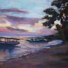 Sunset, Gili Islands, Indonesia by Terri Maddock