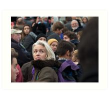 She was Just a Face in the Crowd Art Print