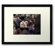 She was Just a Face in the Crowd Framed Print