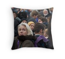 She was Just a Face in the Crowd Throw Pillow