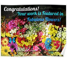 Fabulous Flowers Feature Banner Poster
