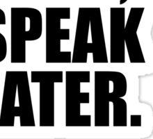 Google first, speak later. Sticker