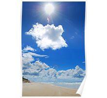 sun on Morton Island Poster