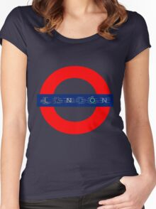 London Underground - MAP! Women's Fitted Scoop T-Shirt