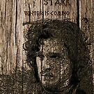 Jon Snow - Carved case by satansbrand