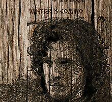 Jon Snow - Carved case by satansbrand