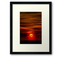 The Sun Shining Over Low Cloud Framed Print