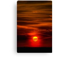 The Sun Shining Over Low Cloud Canvas Print