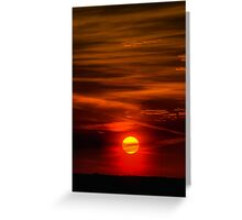 The Sun Shining Over Low Cloud Greeting Card