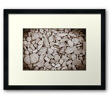 Stones with Wood Framed Print