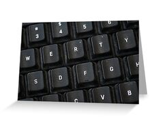 Used Keyboard Greeting Card
