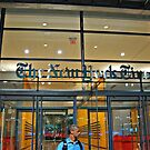 Security Guard, Entrance, New York Times Bldg, NYC by Jane Neill-Hancock