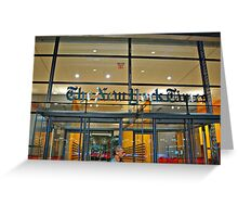 Security Guard, Entrance, New York Times Bldg, NYC Greeting Card