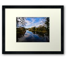 Canal at Kintbury Berkshire Framed Print