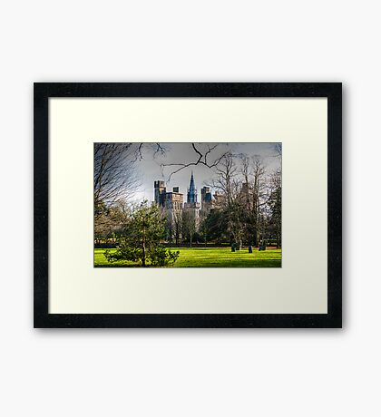 Cardiff Castle from Bute Park Framed Print