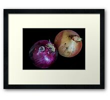 Red and White Onions Framed Print