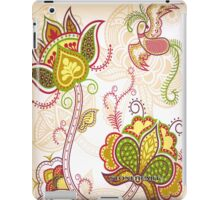 Floral cream  ipad case iPad Case/Skin