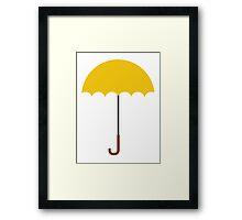 Flat Yellow Umbrella Framed Print